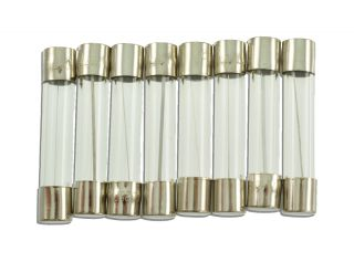 9 GLASS FUSES 6mmX32mm