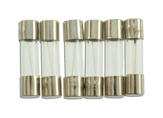 6 GLASS FUSES 5mmX20mm